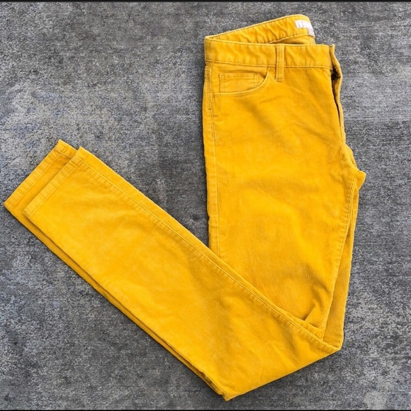 thoughts on limpid in sight exquisite craftsmanship Banana Republic Mustard Yellow Slim Corduroy Pants